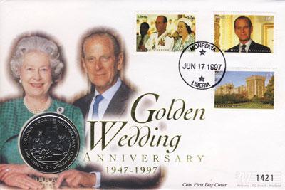 Изображение Монеты Либерия 1 доллар 1997 Медно-никель UNC Подарочная монета по