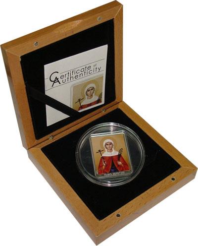 Изображение Подарочные наборы Острова Кука Святая мученица Валентина 2012 Серебро Proof <br>Подарочная монет