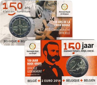 Изображение Подарочные монеты Бельгия 2 евро 2014 Биметалл UNC