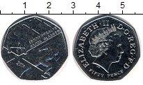 Изображение Мелочь Великобритания 50 пенсов 2014 Медно-никель XF Елизавета II.