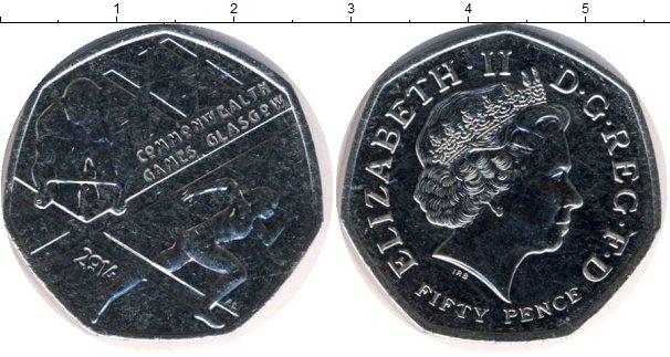 Картинка Мелочь Великобритания 50 пенсов Медно-никель 2014