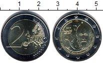 Монета Греция 2 евро Биметалл 2014 UNC