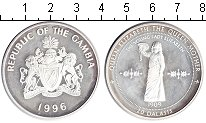 Изображение Монеты Гамбия 20 даласи 1996 Серебро Proof-