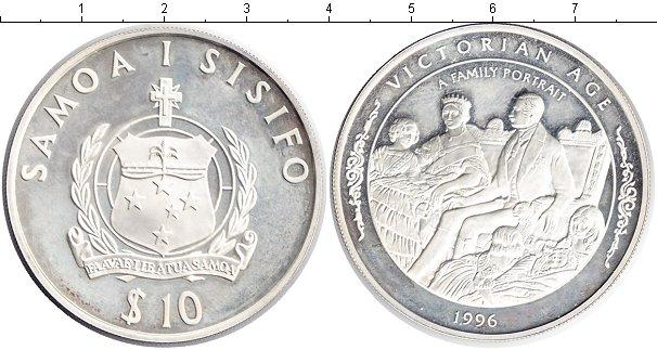 Картинка Монеты Самоа 10 долларов Серебро 1996