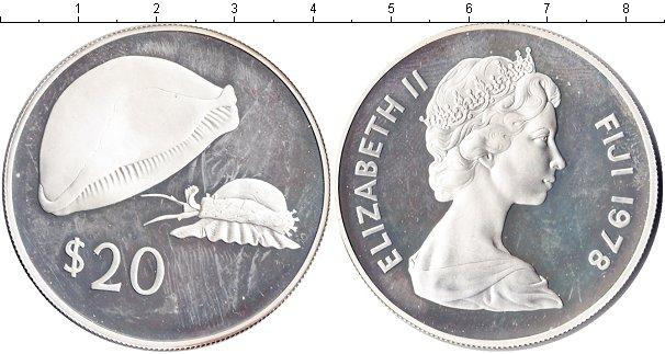 Картинка Монеты Фиджи 20 долларов Серебро 1978
