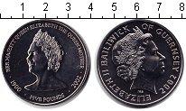 Изображение Монеты Гернси 5 фунтов 2002 Медно-никель Proof- Королева-мать