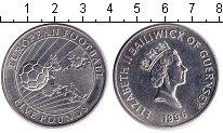 Изображение Мелочь Гернси 5 фунтов 1996 Медно-никель XF Чемпионат Европы по