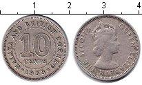 Изображение Монеты Малайя 10 центов 1953 Медно-никель VF Елизавета II