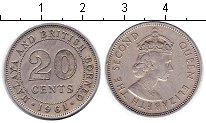 Изображение Монеты Малайя 20 центов 1961 Медно-никель XF