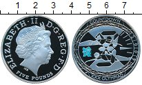 Изображение Монеты Великобритания 5 фунтов 2009 Серебро Proof- Елизавета II. XXX Ол
