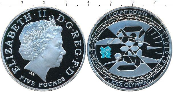 Картинка Монеты Великобритания 5 фунтов Серебро 2009
