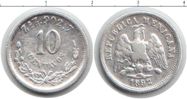 Картинка Монеты Мексика 10 сентаво Серебро 1892