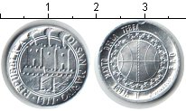Изображение Монеты Сан-Марино 1 лира 1977 Алюминий UNC-