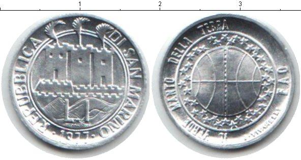 Картинка Монеты Сан-Марино 1 лира Медно-никель 1977