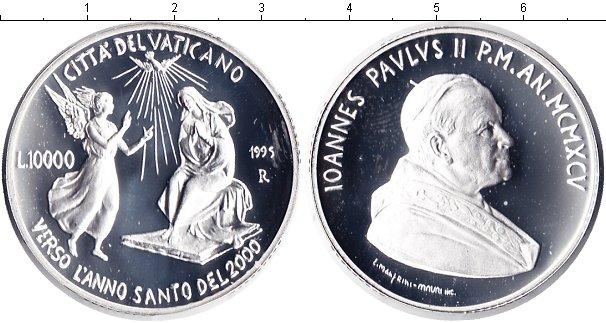Картинка Монеты Ватикан 10.000 лир Серебро 1995