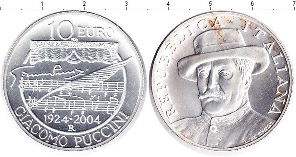 Картинка Монеты Италия 10 евро Серебро 2004