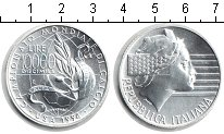 Изображение Монеты Италия 10000 лир 1994 Серебро UNC- FIFA США 94