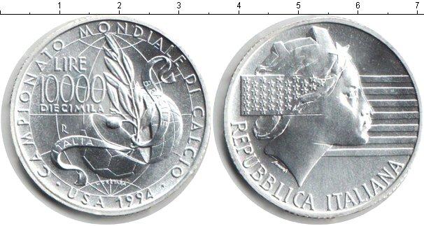 Картинка Монеты Италия 10.000 лир Серебро 1994