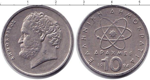 Картинка Барахолка Греция 10 драхм Медно-никель 1994