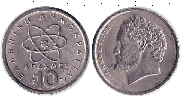 Картинка Барахолка Греция 10 драхм  1984