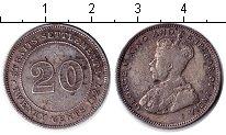 Изображение Монеты Стрейтс-Сеттльмент 20 центов 1927 Серебро XF