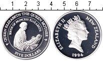 Изображение Монеты Новая Зеландия 5 долларов 1994 Серебро Proof- Елизавета II