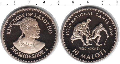 Картинка Монеты Лесото 10 малоти Серебро 1984
