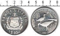 Изображение Монеты Самоа 10 долларов 1992 Серебро Proof- Защита дикой природы