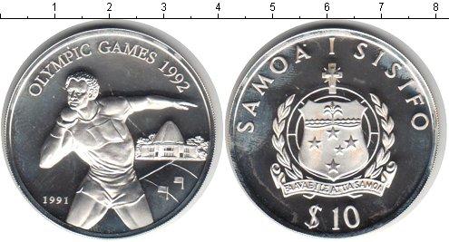 Картинка Монеты Самоа 10 долларов Серебро 1991