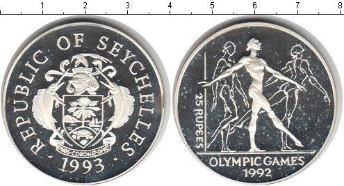 Картинка Монеты Сейшелы 25 рупий Серебро 1993