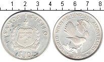 Изображение Монеты Самоа 10 долларов 1986 Серебро UNC- голубь