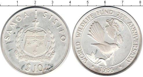 Картинка Монеты Самоа 10 долларов Серебро 1986