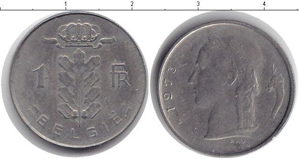 Картинка Дешевые монеты Бельгия 1 франк  1973