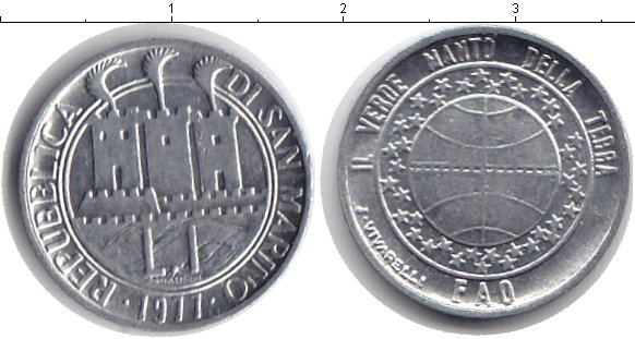 Картинка Барахолка Сан-Марино 1 лира  1977