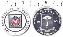 Изображение Монеты Экваториальная Гвинея 7.000 франков 1995 Серебро Proof- Почтовая марка