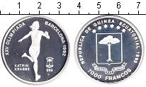 Изображение Монеты Экваториальная Гвинея 7.000 франков 1992 Серебро Proof- Олимпийские игры 199