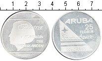 Изображение Монеты Аруба 25 флоринов 1986 Серебро UNC- Беатрикс.