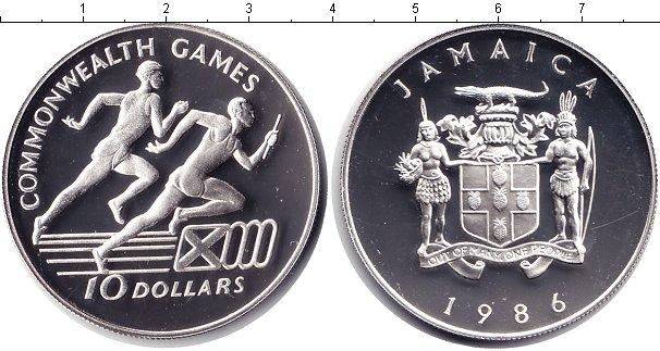Картинка Монеты Ямайка 10 долларов Серебро 1986