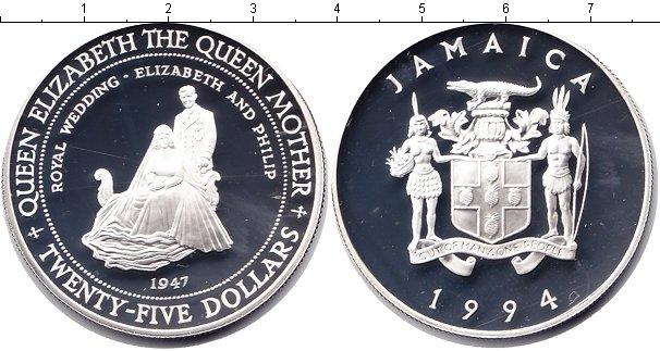 Картинка Монеты Ямайка 25 долларов Серебро 1994