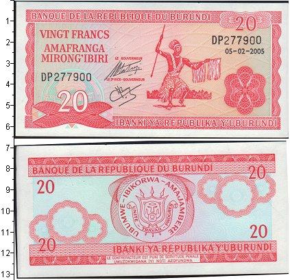 Картинка Банкноты Бурунди 20 франков  2005