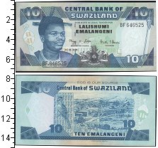 Изображение Банкноты Свазиленд 10 эмалингени 0  UNC-