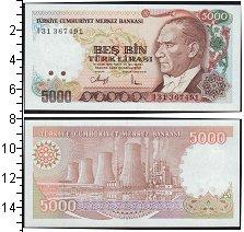 Изображение Банкноты Турция 5000 лир 0  UNC-