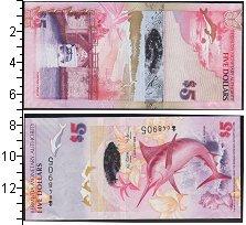 Изображение Боны Бермудские острова 5 долларов 2009  UNC- рыба-меч