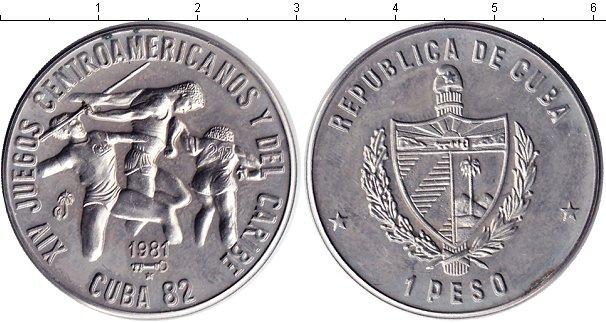 Картинка Монеты Куба 1 песо Медно-никель 1981