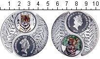 Изображение Монеты Фиджи 1 доллар 2010 Серебро Proof- тигр