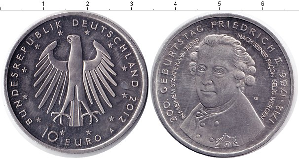 Картинка Монеты Германия 10 евро Медно-никель 2012