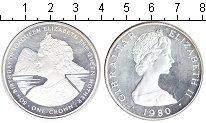 Изображение Монеты Гибралтар 1 крона 1980 Серебро Proof- Королева-мать.
