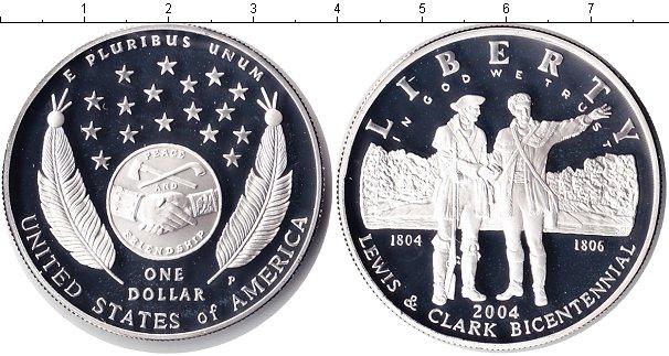 Картинка Монеты США 1 доллар Серебро 2004