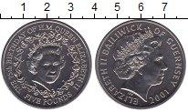 Изображение Мелочь Гернси 5 фунтов 2001 Медно-никель UNC 75 лет со дня рожден