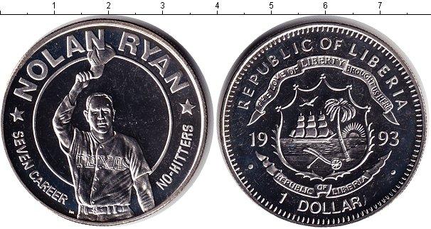 Картинка Монеты Либерия 1 доллар Медно-никель 1993